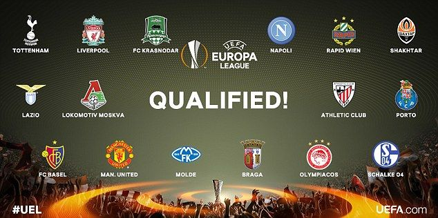 Qualified UEL Teams - Daily Mail